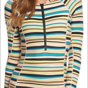 Volcom Salty Air Long Sleeve, Zip-Up One Piece